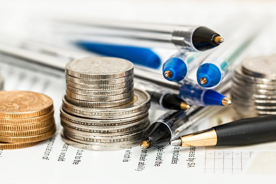 mønter og kuglepenne