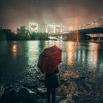 Kvinde i regn